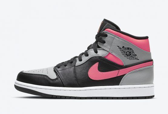 """海外近日発売予定★NIKE Air Jordan 1 Mid """"Pink Shadow""""  554724-059"""